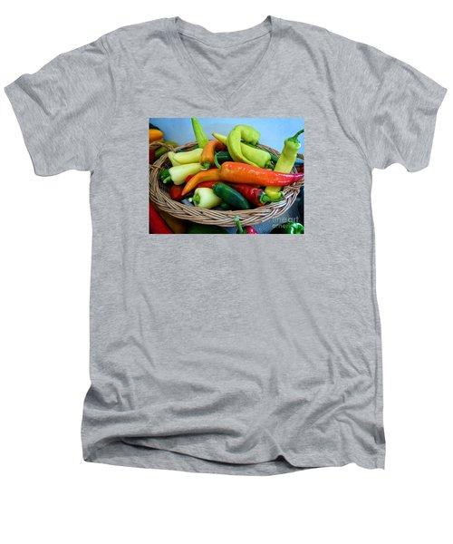 Hot Peppers Men's V-Neck T-Shirt