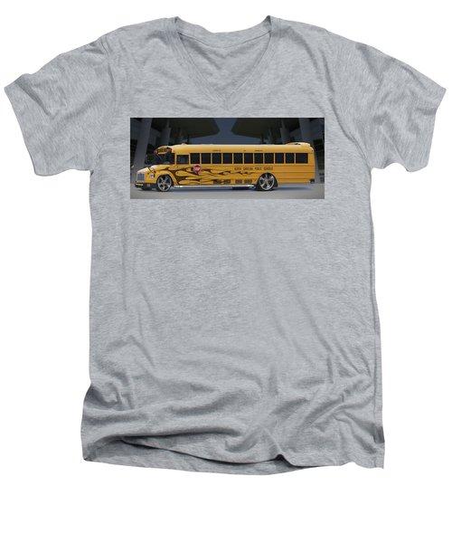 Hot Rod School Bus Men's V-Neck T-Shirt