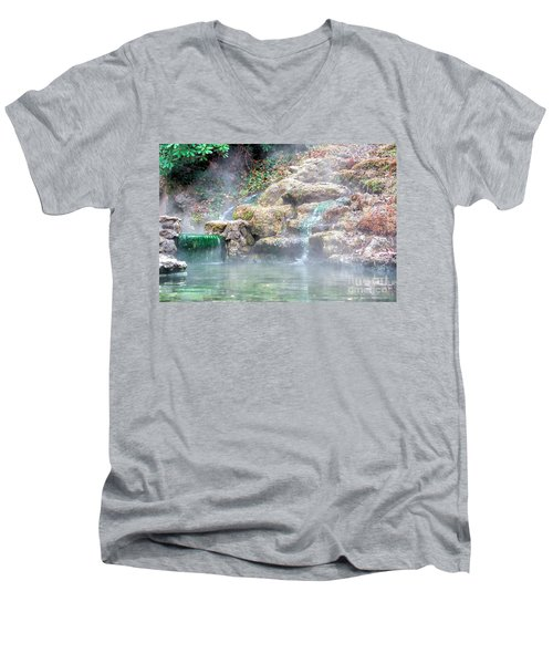 Men's V-Neck T-Shirt featuring the photograph Hot Springs In Hot Springs Ar by Diana Mary Sharpton