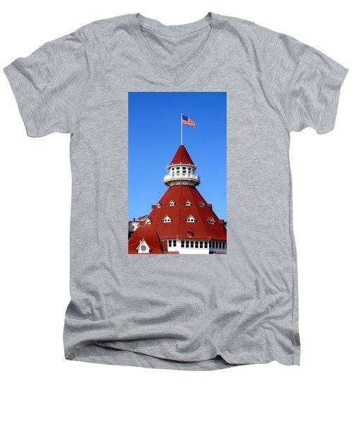 Hotel Del Coronado Men's V-Neck T-Shirt by Christopher Woods