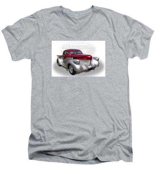Hotrod Utility Men's V-Neck T-Shirt by Keith Hawley