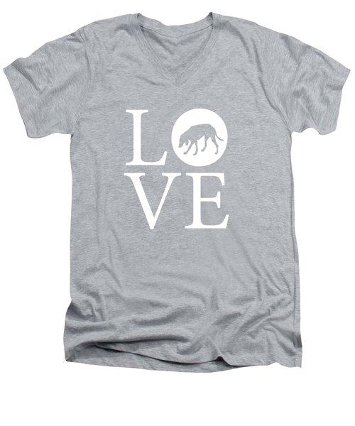 Hound Dog Love Men's V-Neck T-Shirt