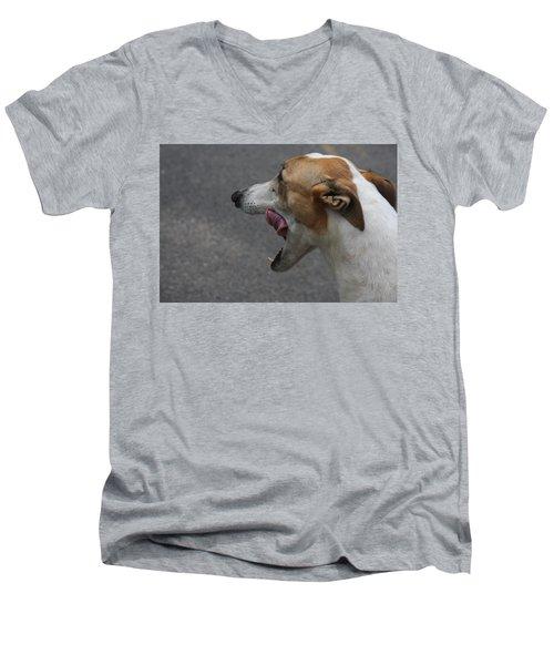 Hound Portrait Men's V-Neck T-Shirt by Vadim Levin