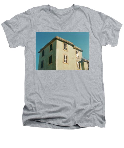 House In Ostia Beach, Rome Men's V-Neck T-Shirt