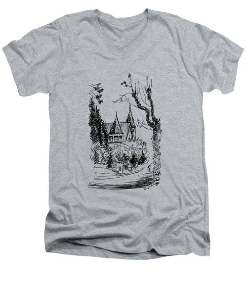 House In San Francisco Men's V-Neck T-Shirt