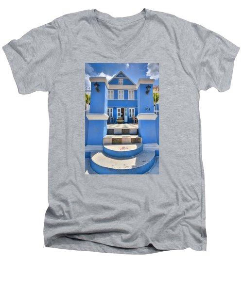 House Of Blues Men's V-Neck T-Shirt by Nadia Sanowar