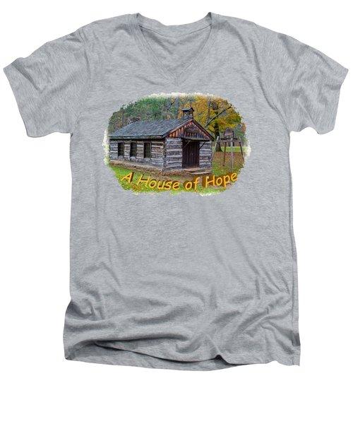 House Of Hope Men's V-Neck T-Shirt by John M Bailey