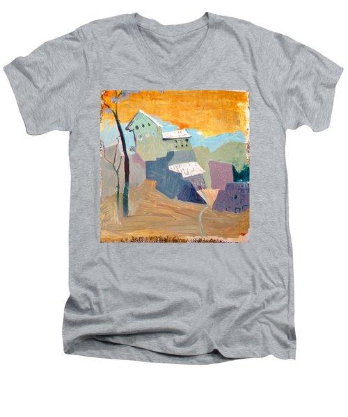 House On A Hill Men's V-Neck T-Shirt