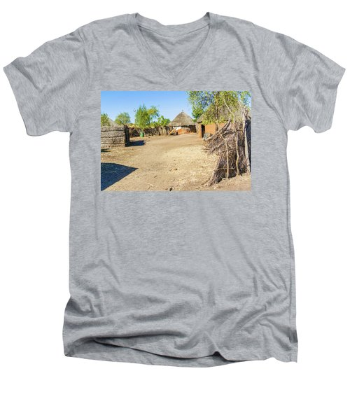 Houses In Rashid,  Sudan Men's V-Neck T-Shirt