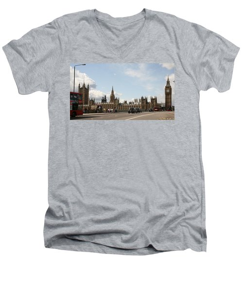 Houses Of Parliament.  Men's V-Neck T-Shirt