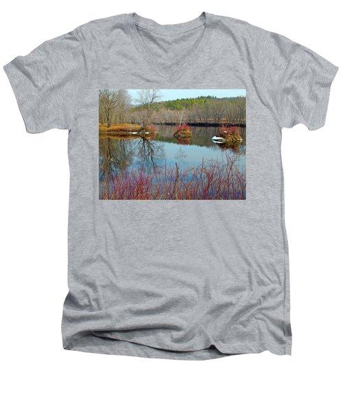 Housesitting 41 Men's V-Neck T-Shirt by George Ramos