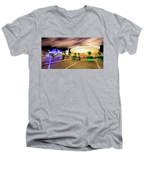 Houston Texas Live Stock Show And Rodeo #8 Men's V-Neck T-Shirt by Micah Goff