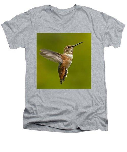 Hover Men's V-Neck T-Shirt by Sheldon Bilsker