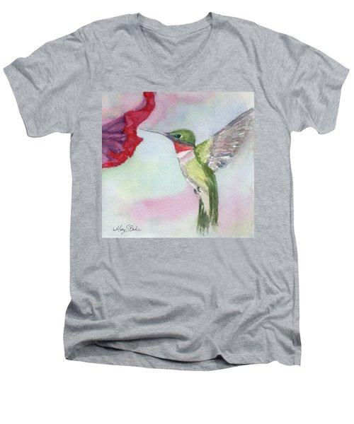 Hovering Ruby Men's V-Neck T-Shirt