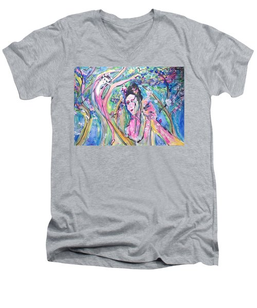 How Are You Petal  Men's V-Neck T-Shirt
