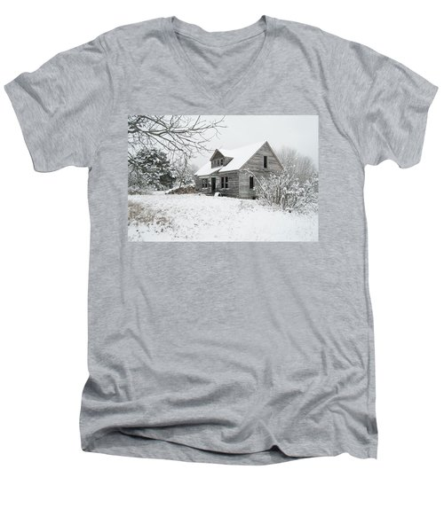 How Long Has It Been? Men's V-Neck T-Shirt by Michael Peychich
