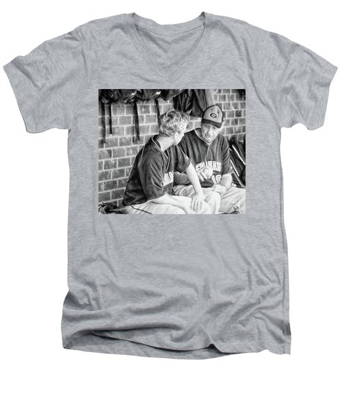 Men's V-Neck T-Shirt featuring the photograph How To Throw A Curve Ball by Benanne Stiens