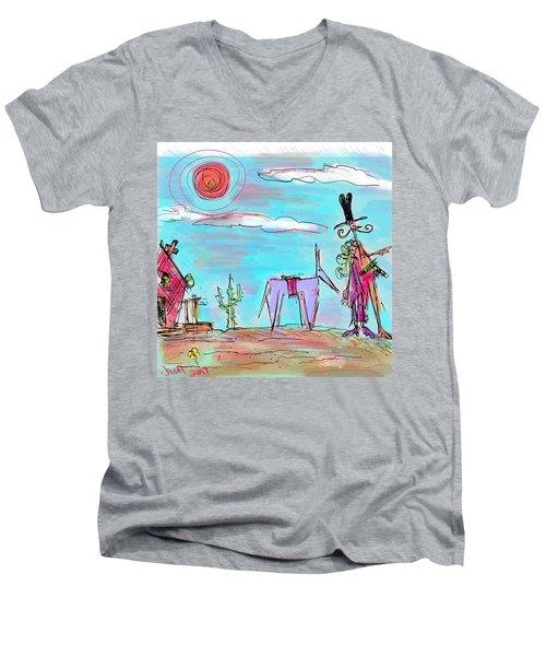 Howdy Pardner...the Frontier Awaits Men's V-Neck T-Shirt