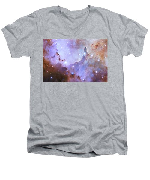Men's V-Neck T-Shirt featuring the photograph Hubble Space Telescope Celebrates 25 Years Of Unveiling The Universe by Nasa