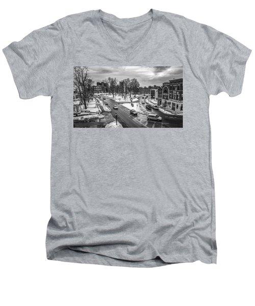 Hudson Falls Business District Men's V-Neck T-Shirt