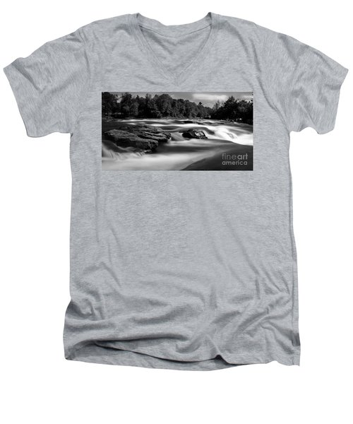 Hudson River Solice Men's V-Neck T-Shirt by Darleen Stry