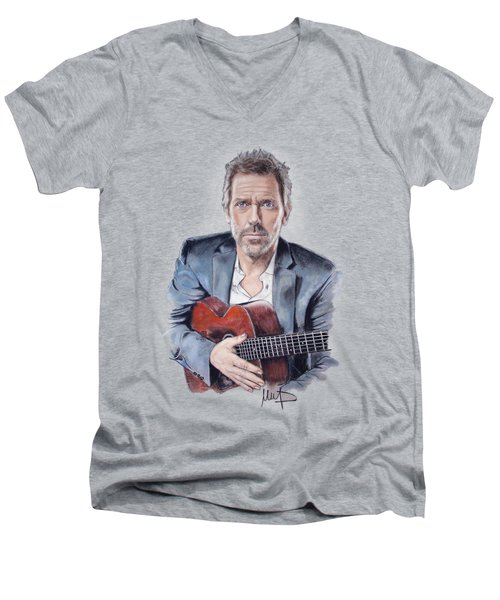 Hugh Laurie Men's V-Neck T-Shirt