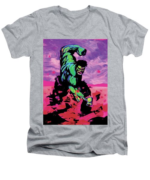 Hulk Smash Men's V-Neck T-Shirt