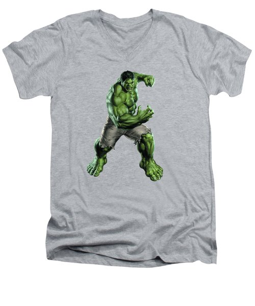 Hulk Splash Super Hero Series Men's V-Neck T-Shirt