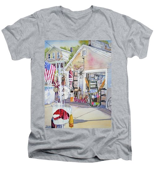 Hull Of A Shoppe Men's V-Neck T-Shirt by P Anthony Visco