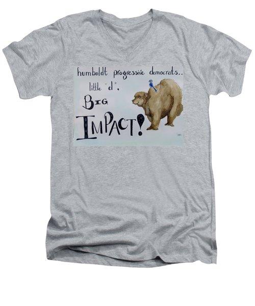 Humboldt Progressive Democrats Men's V-Neck T-Shirt