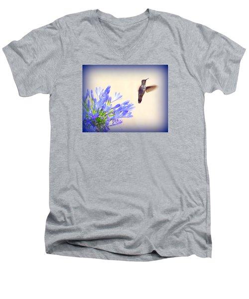 Hummer In Blue Men's V-Neck T-Shirt