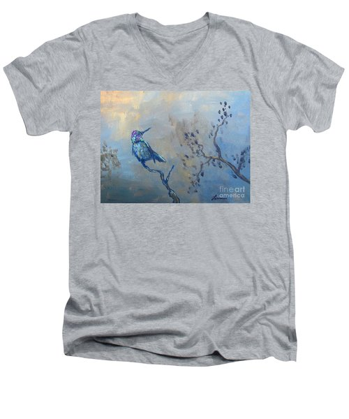 Humming Bird Men's V-Neck T-Shirt by Laurianna Taylor