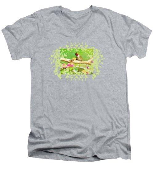 Hummingbird Attitude T - Shirt Designe Men's V-Neck T-Shirt