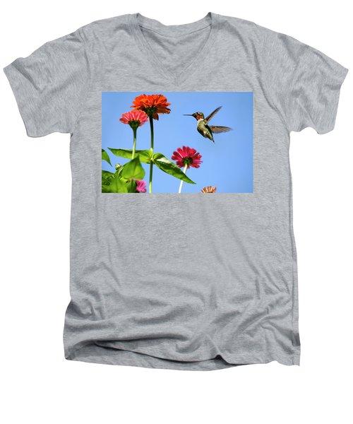 Hummingbird Happiness Men's V-Neck T-Shirt
