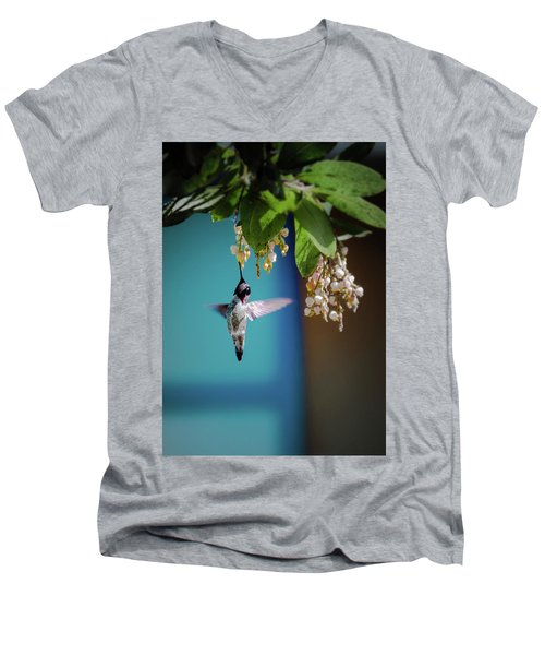 Hummingbird Moment Men's V-Neck T-Shirt by Mark Dunton