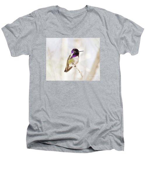 Hummingbird Men's V-Neck T-Shirt by Rebecca Margraf