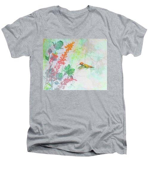 Hummingbird Summer Men's V-Neck T-Shirt