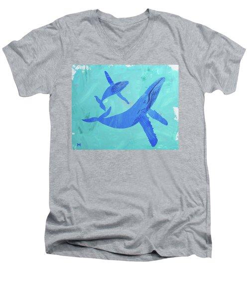 Humpback Whales Men's V-Neck T-Shirt