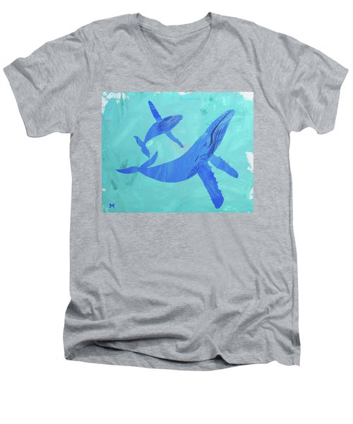 Humpback Whales Men's V-Neck T-Shirt