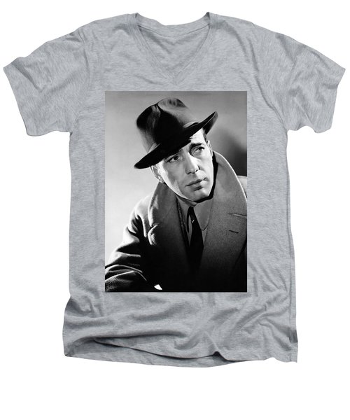 Humphrey Bogart Men's V-Neck T-Shirt