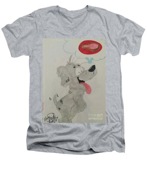 Hungry Dog Men's V-Neck T-Shirt