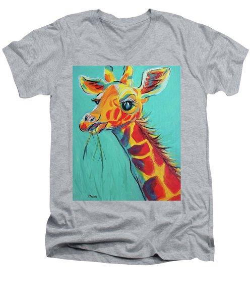 Hungry Giraffe Men's V-Neck T-Shirt
