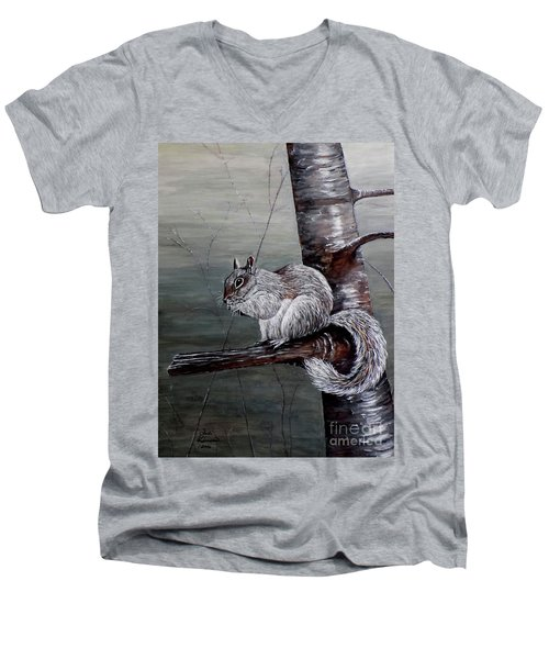 Hungry Squirrel Men's V-Neck T-Shirt