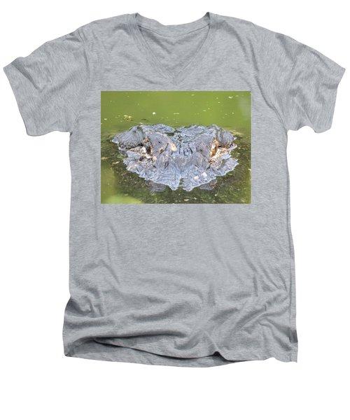 Hunters Stare Men's V-Neck T-Shirt by Kimo Fernandez
