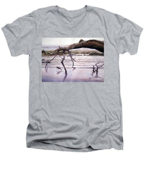 Hunting Island Sculpture Men's V-Neck T-Shirt