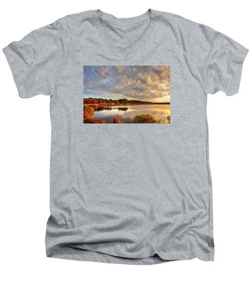 Huntington Beach At Dusk Men's V-Neck T-Shirt