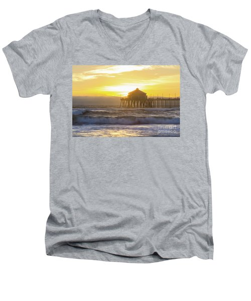 Huntington Peir 2 Men's V-Neck T-Shirt