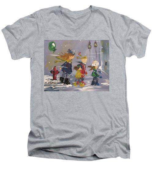 Hurry Home Men's V-Neck T-Shirt