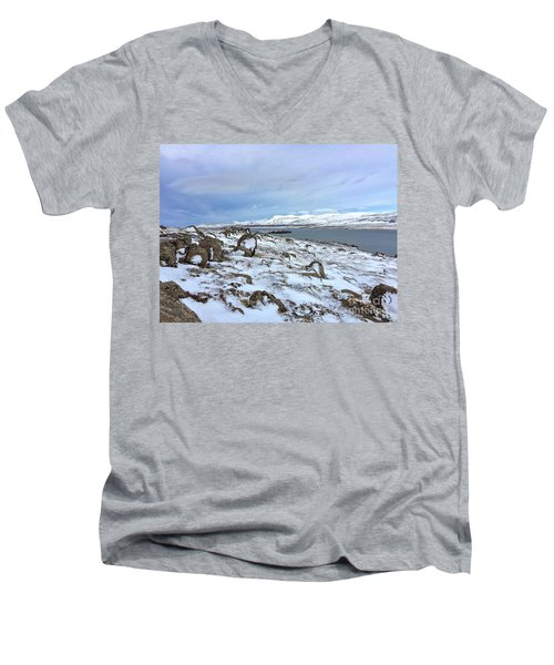 Hvalfjoerdurs Wintersun Men's V-Neck T-Shirt