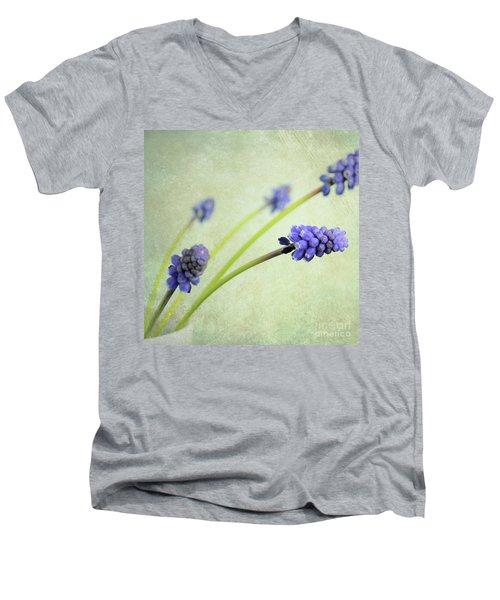 Hyacinth Grape Men's V-Neck T-Shirt by Lyn Randle
